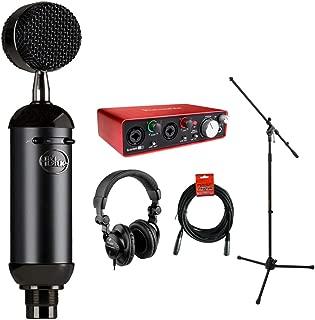 Blue Blackout Spark SL XLR Condenser Microphone with Focusrite Scarlett 2i2 USB Audio Interface, HPC-A30 Monitor Headphone, Mic Stand & 20' XLR Cable Bundle