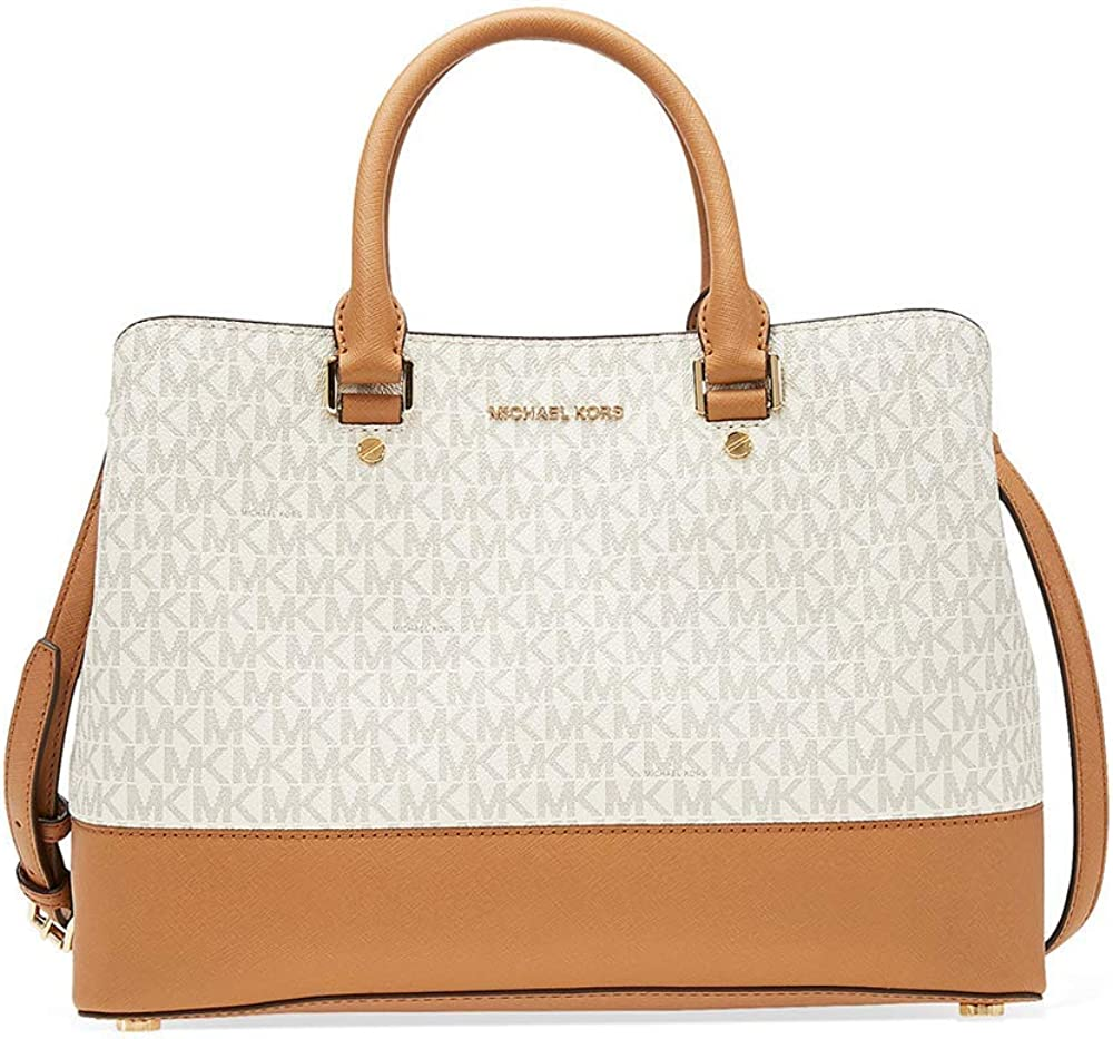 Michael kors savannah large satchel,borsa per donna,in vera pelle 30H6GS7S8B-149