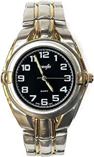Official Wrangler Limited Edition Mens Watch Rugged Design 2 Tone Silver and Gold Stainless Resizeable Band Black Dial Japanese Quartz with Warranty