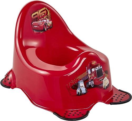 keeeper Pot pour Bébé Disney Cars, De 18 Mois à 3 ans Environ, Fonction Antidérapante, Adam, Blanc