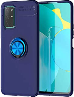 Wuzixi Case for LG Q92 5G,Ultra-thin shock-resistant TPU protective cover with anti-scratch,360-degree swivel ring,Cover f...