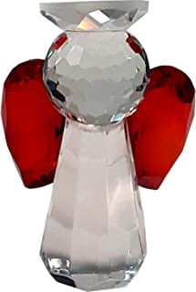 Crystal Guardian Angel Red - Handmade Crystal Glass Religious Motive Gift for All Occasions - Make Joy with a Beautiful Shining Product …