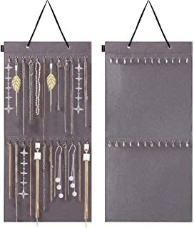 Binbe Hanging Jewelry Organizer, with 24 Hook Wall Mounted Jewelry Display Hanging Necklace Holder Large Capacity and Stor...
