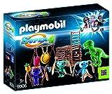 PLAYMOBIL-Guerrero Alien con Trampa por T-Rex Personajes de la Serie Super 4, Multicolor, 24,8 x 7,2...