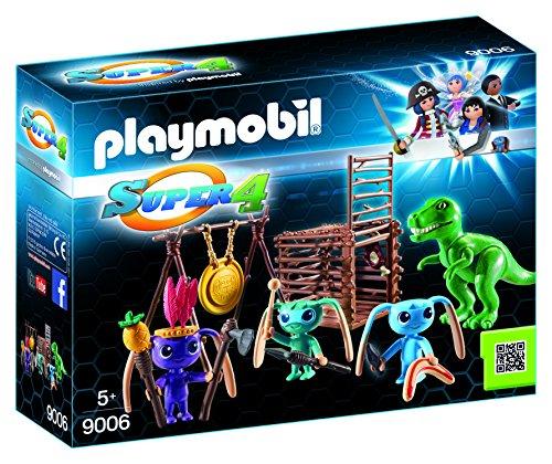 PLAYMOBIL-Guerrero Alien Trampa T-Rex Personajes Serie