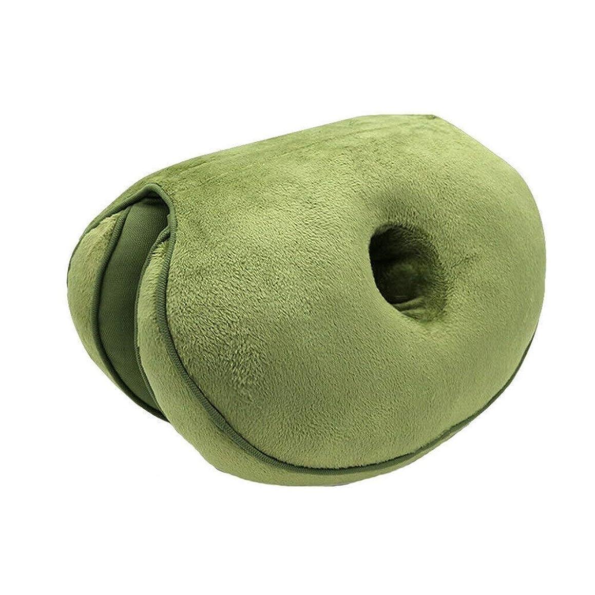 発症部門スタジオLIFE 新デュアルシートクッション低反発ラテックスオフィスチェアバックシートクッション快適な臀部マットパッド枕旅行枕女性女の子 クッション 椅子