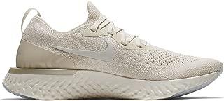 Nike Womens Epic React Flyknit Metallic Prem Running Trainers (11, Light Cream/Sail/Lemon Wash)