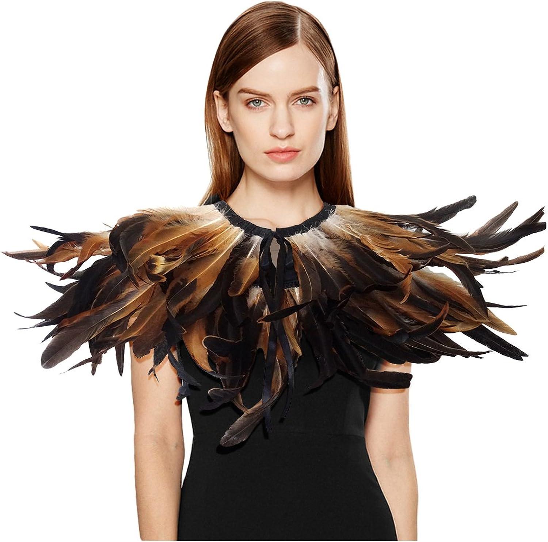Keland Gotische Feder Shrug Cape Schal Chokerkragen Halloween-Kostüm B07F6YM3M7 Ausgezeichnete Qualität    | Verschiedene Arten und Stile