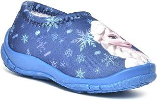 Disney Frozen Kids Girls Sky Blue Lycra Shoes by Toothless Walking
