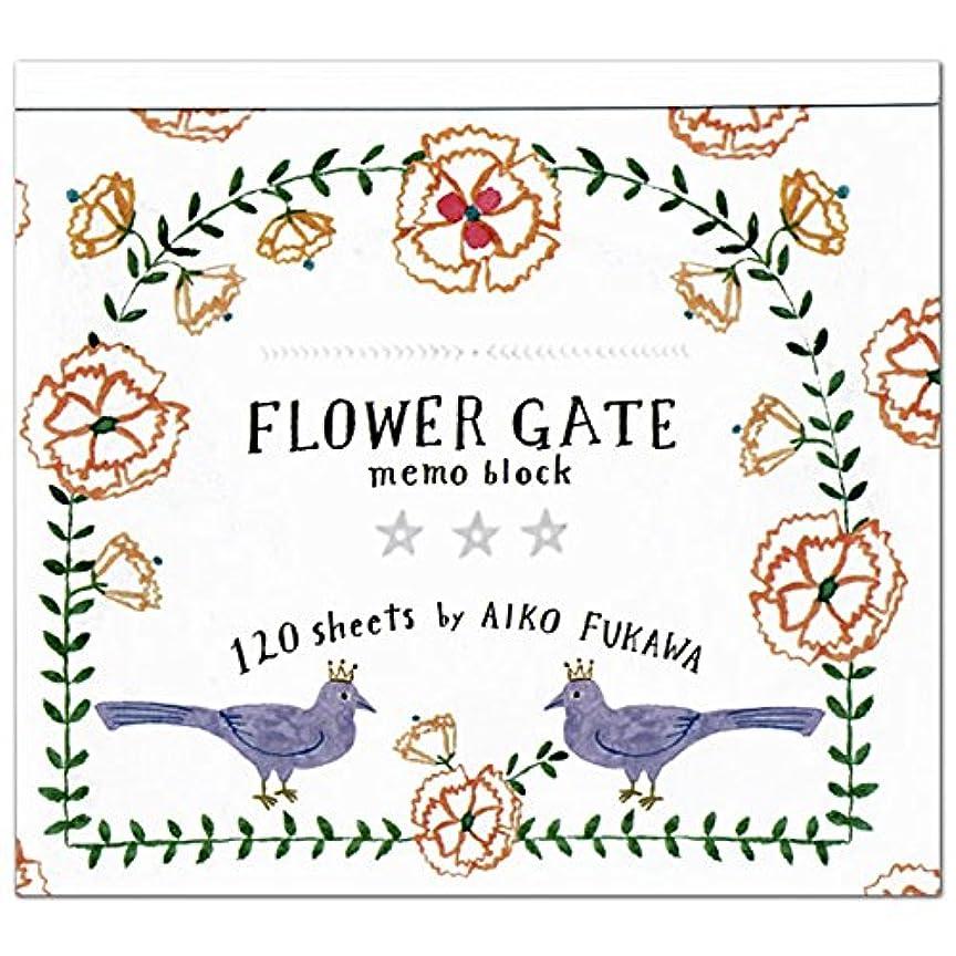 シビック安全南東Aiko Fukawa ブロックメモ FLOWER GATE 22-360 (18) 4柄各30枚入り 表現社