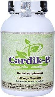 Cardio-B (Cardik-B) (Ayurvedic Formulation for high Blood Pressure & Anti-Stress) 90 Vege Capsules 800 mg Each - Concentra...