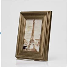LIFANG Golden Photo Frame, Desktop/Wall Hanging, Home Decorations, Can Be Placed 6 Inch / 7 Inch / 8 Inch / 10 Inch Photo your best choice. (Color : F-7 inch)
