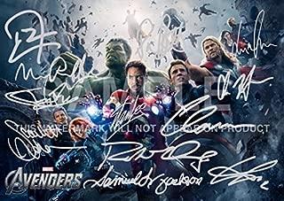 Large Avengers Movie Print RDJ, Stan Lee, Joss Whedon, Mark Ruffalo, Tom Hiddleston, Scarlett Johansson, Samuel L Jackson, Chris Hemsworth, Chris Evans, Clark Gregg, Jeremy Renner (11.7