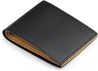 (アビエス)ABIES L.P. 本革 角シボ型押し牛革 二つ折り財布 (小銭入れなし)