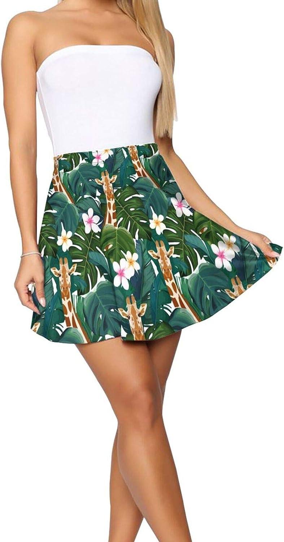 Good Vibes Only with Pineapple Women's Skater Skirt Basic Short Skirt