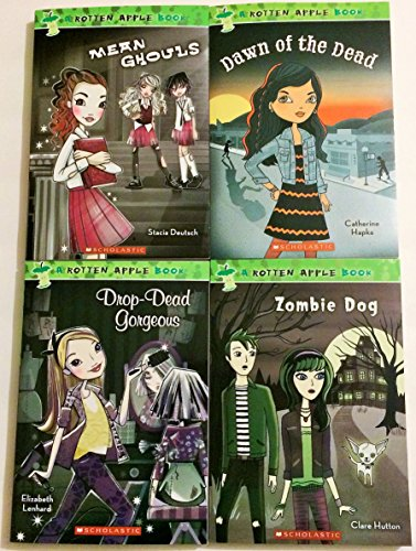A Rotten Apple 4 Book Set Includes Dawn of the Dead - Drop Dead Gorgeous - Mean Ghouls - Zombie Dog