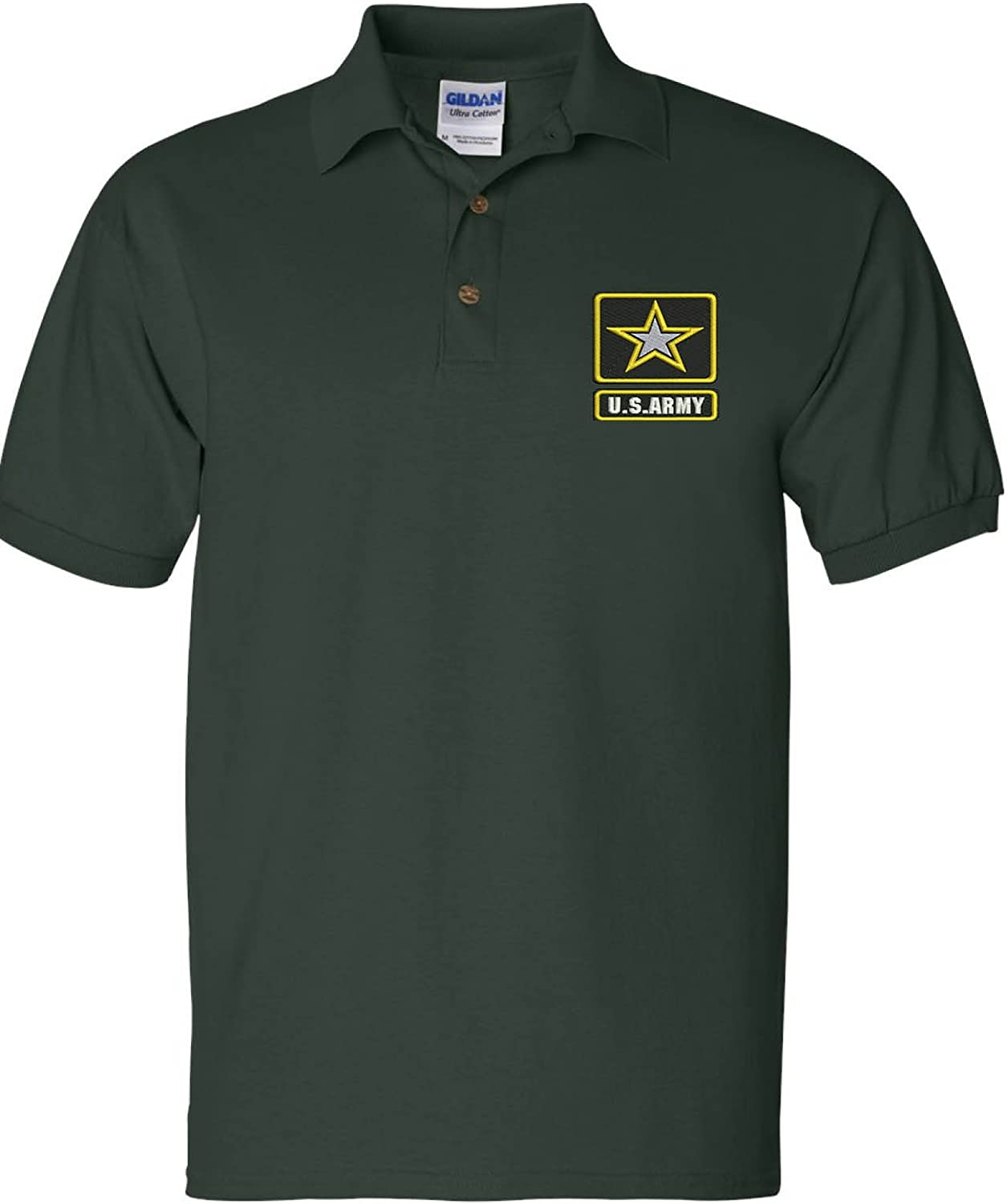 ALLNTRENDS Men's Polo T Shirt Popular brand in the world US Army A USA Los Angeles Mall Embroidered Military
