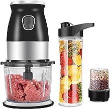 M¨¦langeur personnel portable 500W, robot culinaire avec hachoir bol presse-agrumes bouteille hachoir ¨¤ viande fabricant ...