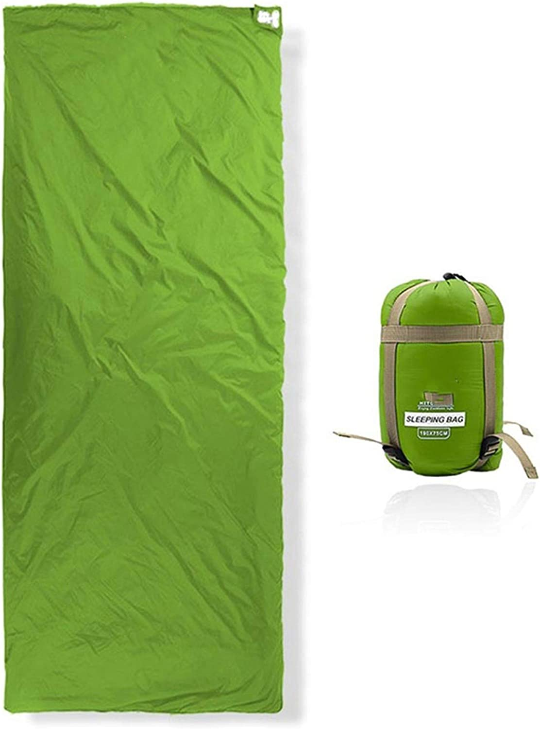 Outdoor Splicing Sleeping Bag Ultra Light Adult Portable Camping Hiking Bags Sleeping Bags Spring Autumn Lazy Bag Arrival,Green,