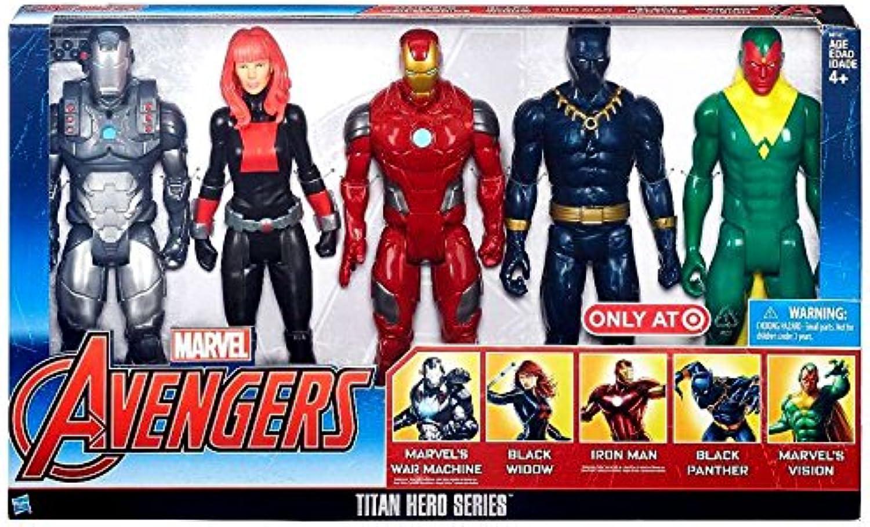 en stock Marvel Avengers Titan Hero Hero Hero Series Exclusive 5 Figura Set by Marvel  marca en liquidación de venta