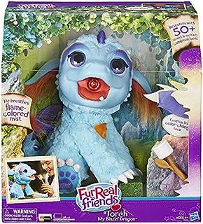 Hasbro FurReal Friends: Torch Dragón de Juguete Felpa Azul, Púrpura - Juguetes de Peluche (Dragón de Juguete, Azul, Púrpura, Felpa, 4 año(s), FurReal Friends, Torch)