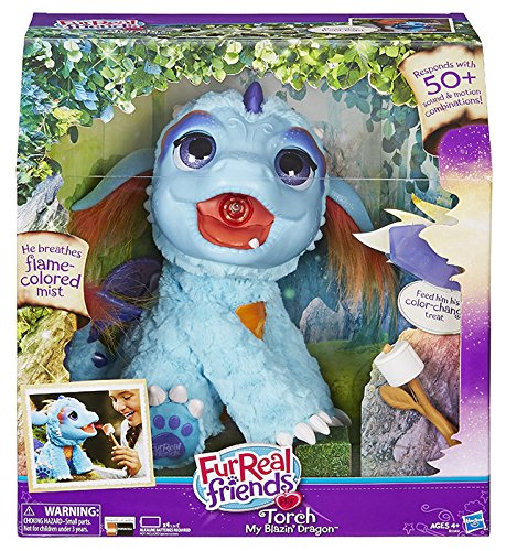 Hasbro FurReal Fur Real Friends B5142103-Torch Interactive Plush Dragon, B5142103