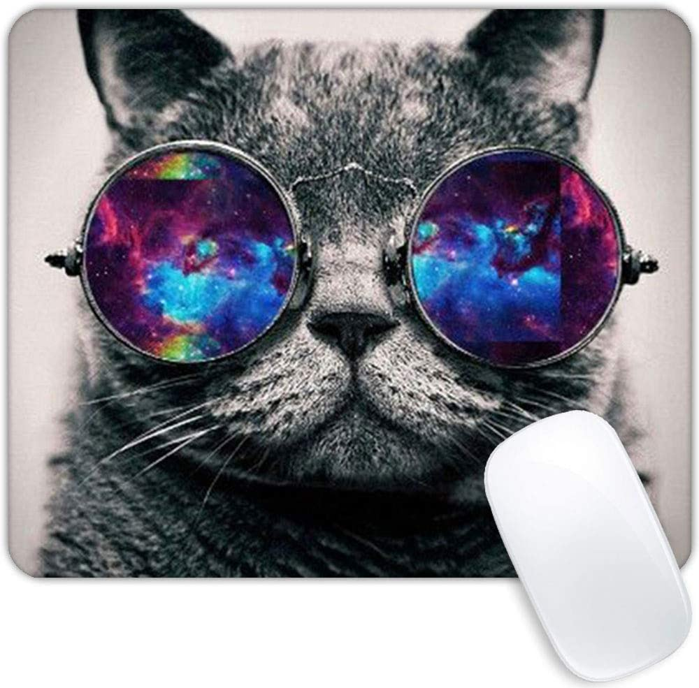 Space cat Mouse pad cheap Personality Watercolor Flower Design Rectang Under blast sales