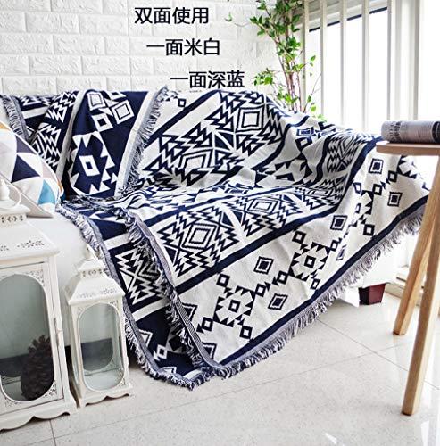 Blue and White Reflections Sofadeken, sofa, handdoek, stofbescherming, zachte tapijt, kussen, dekbed, katoen, linnen deken