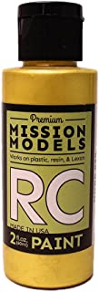 Mission Models Automobile Mmrc-020 Water-Based RC Paint 2 Oz Bottle Pearl Gold