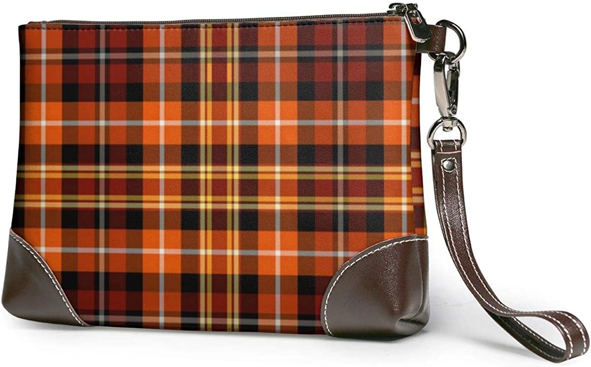 Russet Brown Fashion Orange And Yellow Wristlet Complete Free Shipping Wall Print Plaid