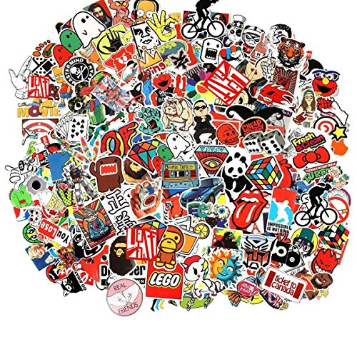 For Sale! CHNLML Cool Sticker 55-905pcs Random Music Film Vinyl Skateboard Guitar Travel Case Sticke...