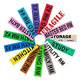 Tag-A-Room Color Coded Home Moving Box Labels, 800 Count 4 Bedroom House Pack + Fragile Stickers, Moving Supplies, Moving & Packing Stickers