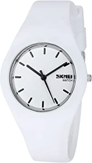 INWET Unisex Women's or Men's Quartz Watch Simple Dial and Soft Silicone Strap