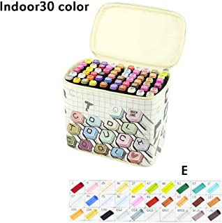 Marker Pen 30/40 Pcs Set with Bag Students Hand Painting Double Head Water Pen Multi-Function Color School Office Supplies Evangelia.YM (E)