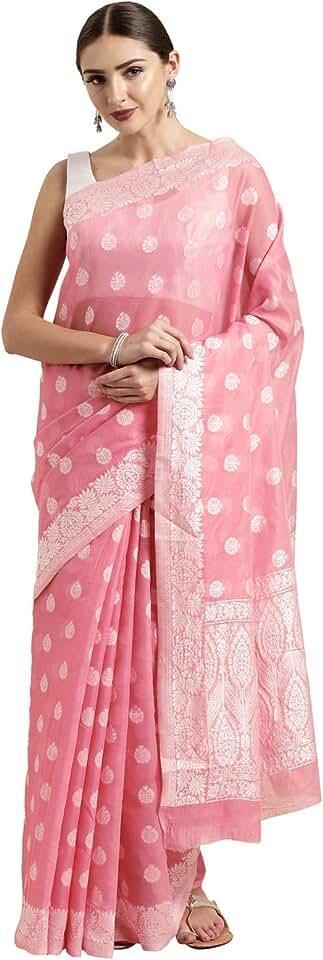 Indian Satrani Cotton Saree with Blouse Piece Saree