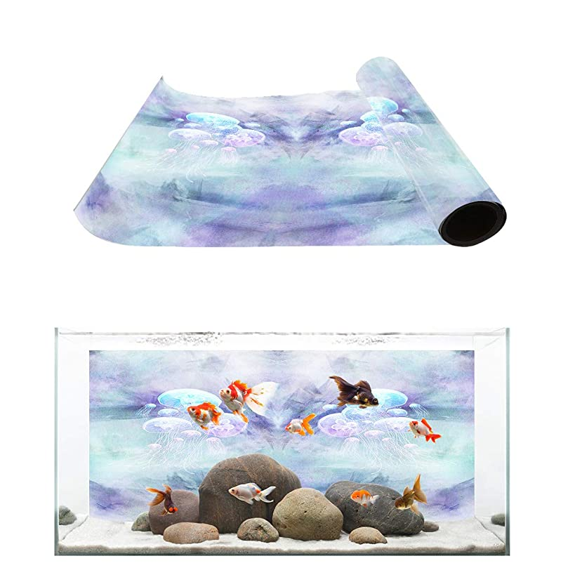 Fantasy Star Aquarium Background Fish Tank Wallpaper Easy to Apply and Remove PVC Sticker Pictures Poster Background Decoration