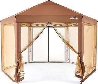 SUNTIME Outdoor Patio Hexagon Gazebo, Pop Up Instant Canopy , Garden Backyard Party Tent Gazebo with Sidewalls( 6.6' x 9.2...