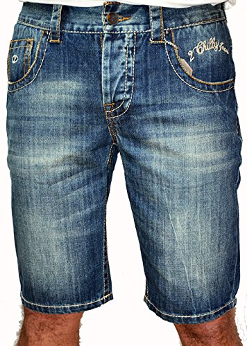 2Chilly heren jeans short bermuda Chino Kitesurf David Capri Denim Camp Wow Sale Out ! Uitverkoop