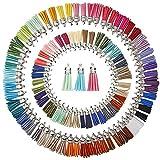 Juanya 100 Pezzi 50 Colori 40 mm Ciondoli in Scamosciata Nappa per Collana Gioielli Accessori Fai da Te