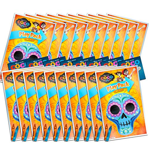 Disney Pixar Coco Ultimate Party Favors Packs -- Bundle Includes 20 Mini Grab n Go Play Packs with Stickers, Coloring Books, Crayons, and Bonus Day of The Dead Tattoos (Coco Party Supplies)