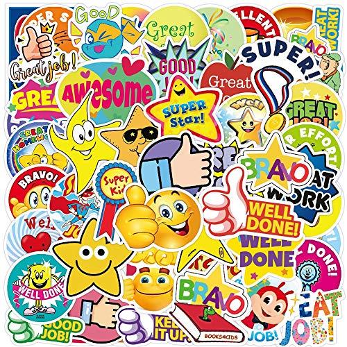 HUIJIA Mother Teacher praises Reward Sticker Laptop Guitar Luggage Phone cool Waterproof Graffiti Sticker Decal Child Classic Toy 50PCS