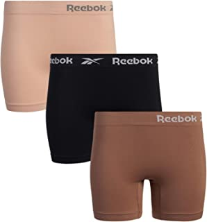 Reebok Women's Slipshorts - Long Leg Seamless Boyshorts (3 Pack)