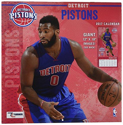 "Turner Licensing Sport 2017 Detroit Pistons Team Wall Calendar, 12""X12"" (17998011877)"