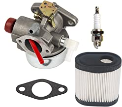 HIFROM 640350 Carburetor Carb Kit with 36905 Air Filter Spark Plug Tune Up kit for Tecumseh LV195EA LV195XA LEV100 LEV105 LEV120 Replace 640271 640303