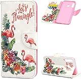 F�r Samsung Galaxy M30 H�lle Lader Tasche PU Lader H�lle Gemalt Muster Flip Brieftasche Kartenhalter Magnetschnalle St�nder Sto�fest Kratzfest Sto�stange Handyh�lle Blumen-Ananas-Flamingo