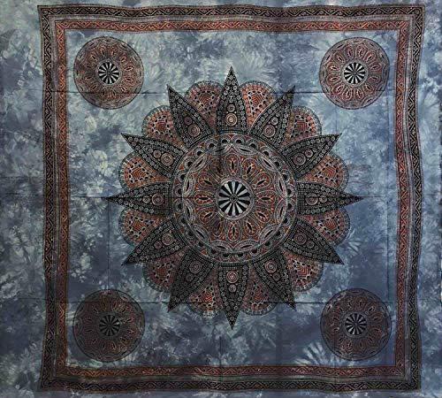 Sunflower - Manta decorativa grande para sofá, 210 x 240 cm, 100% algodón, color azul