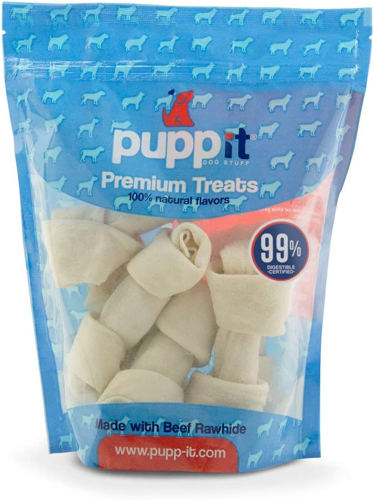 Animer and price revision Max 59% OFF Rawhide Dog Bones Natural Flavor 6 Premium inches T 4-5 Pack