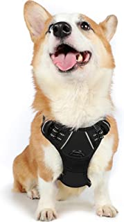 Rabbitgoo No Pull Dog Harness Medium, Front Clip Pet Vest Harness with Handle Adjustable Dog Padded Harness Reflective Mes...