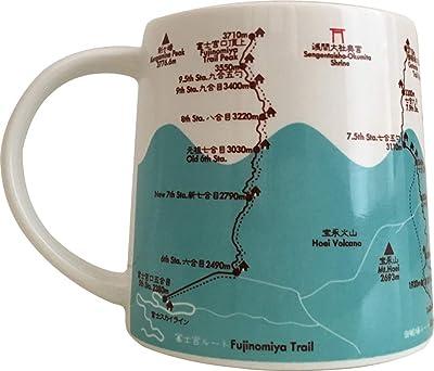 オフィス六・7 マグカップ 富士山トレイルマップ ヨットマグ 300ml MUG234