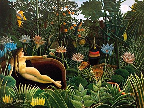 1art1 Henri Rousseau - Der Traum, 1910, 2-Teilig Selbstklebende Fototapete Poster-Tapete 240 x 180 cm